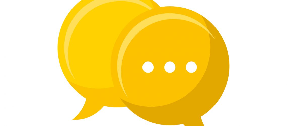 Illustration of speech bubble icon